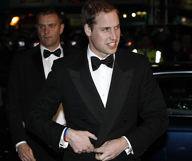 The name's William... barely a year before he tied the knot with Kate, Prince William was the image of handsome as he attended the BAFTAs in 2010. *(Source: Getty)*