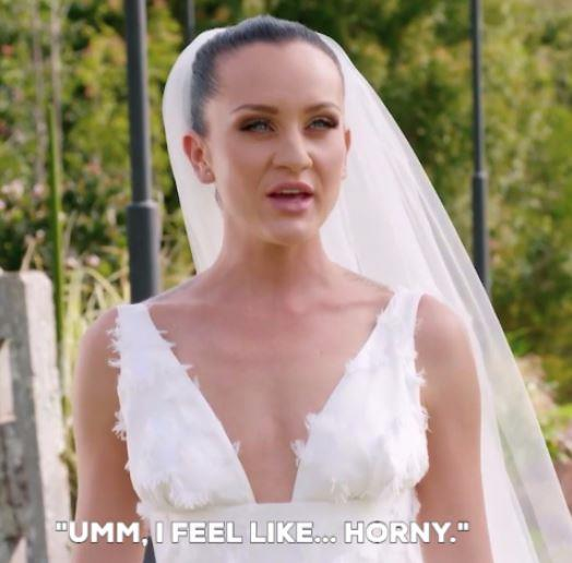 "Just before her wedding, a producer asks Ines ""What are you feeling right now"" to which she responds, ""Umm, I feel like... horny"" which is a very strange emotion..."