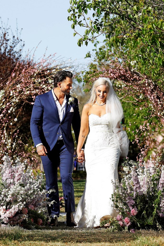 Elizabeth and her new husband Sam on *MAFS* (Image: Nine Network).