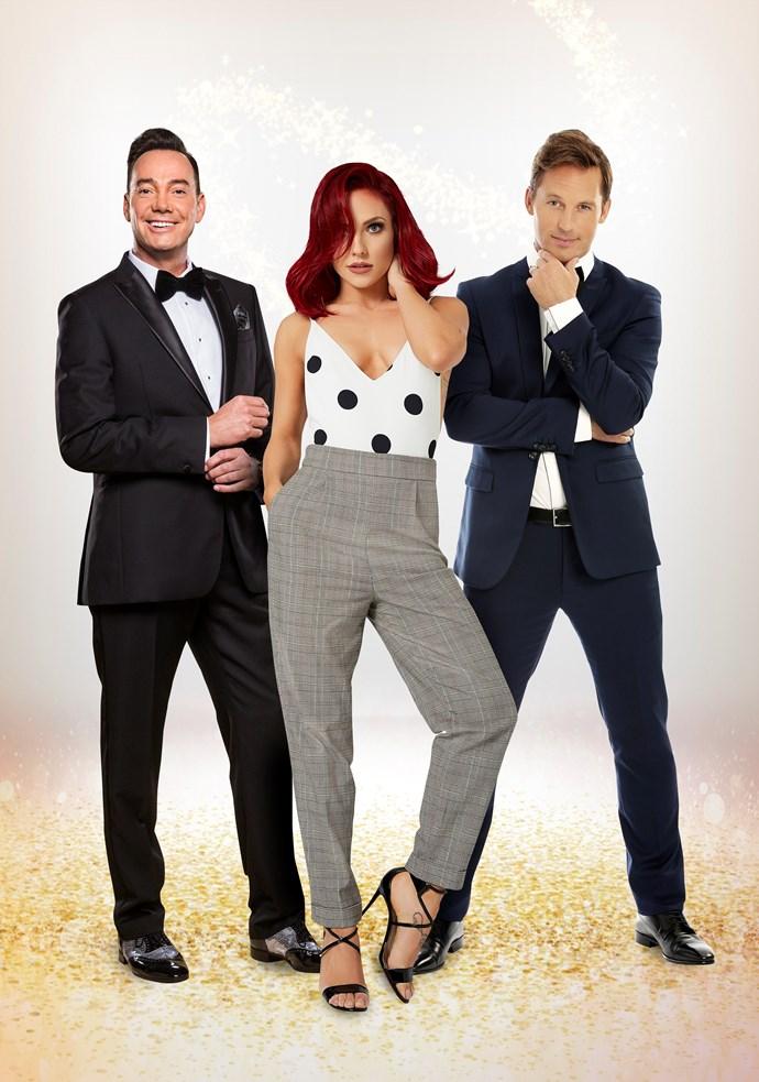 Craig Revel Horwood, Sharna Burgess and Tristan MacManus to judge Dancing With The Stars Australia (Image: Network 10).