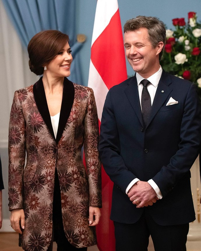 "**December 2018, Latvia** <br><br>  Princess Mary ended 2018 by [debuting a brand new up-do](https://www.nowtolove.com.au/royals/international-royals/princess-mary-hair-53009|target=""_blank"") hair style while attending an official dinner. Styled with a burgundy coat, the brunette couldn't have looked more chic!"