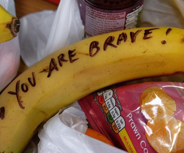 The Duchess of Sussex had the idea to write on bananas after seeing a US cafeteria worker do the same thing for children. *(Image: Instagram @kensingtonroyal)*