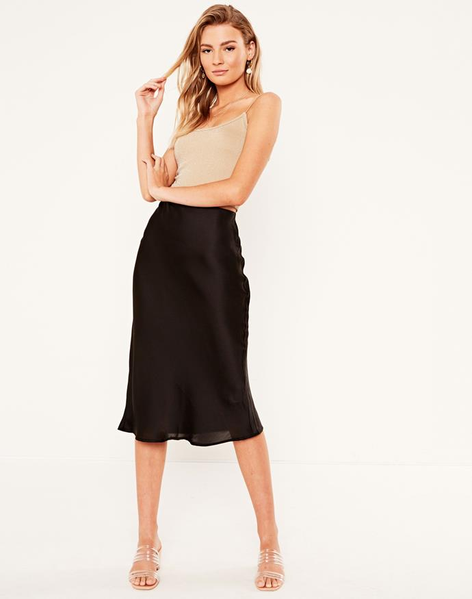 Pair it with some heels and jewellery for a chic night-out look. *(Image: Glassons)*