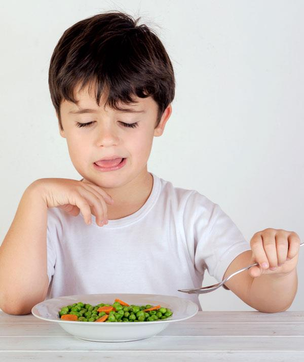 Continue to offer your fussy eater a selection of healthy foods. *(Image: Getty Images)*