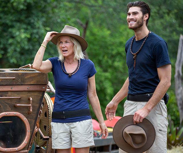Katherine Kelly Lang was the fourth celeb to leave the jungle. *(Image: Network Ten)*