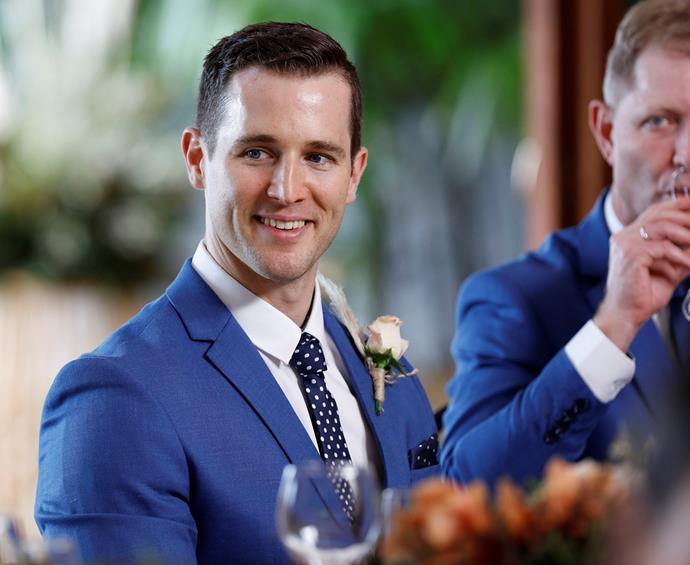 Matthew on his wedding day (Image: Nine Network).