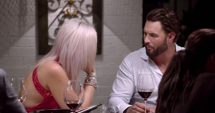 Intense: Liz was not buying Sam's excuses. *(Source: Channel 9)*