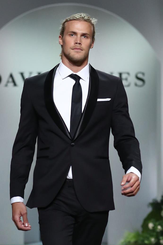 Strutting his stuff on the runway for David Jones. *(Image: Getty)*