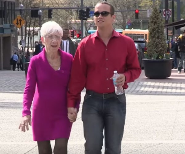 """**Pension Passion**  <br><br > He may have a baby face but Kyle Jones dates a string of pensioners more than three times his age and is in a long-term relationship with a 91-year-old great grandmother. <br><br > The 31-year-old from Pittsburgh, Pennsylvania, has been in an open relationship with Marjorie McCool for the past five years and admits they have an active sex life. <br><br > """"Often, the things women are so self-conscious about is what I'm in to,"""" he explained.  <br><br > """"I like neck lines and wrinkles. Women worry about their boobs sagging but I think the natural hang looks great."""" <br><br > Kyle, a call centre worker, was just 18 when he embarked on a sexual relationship with a 50-year-old. <br><br >"""