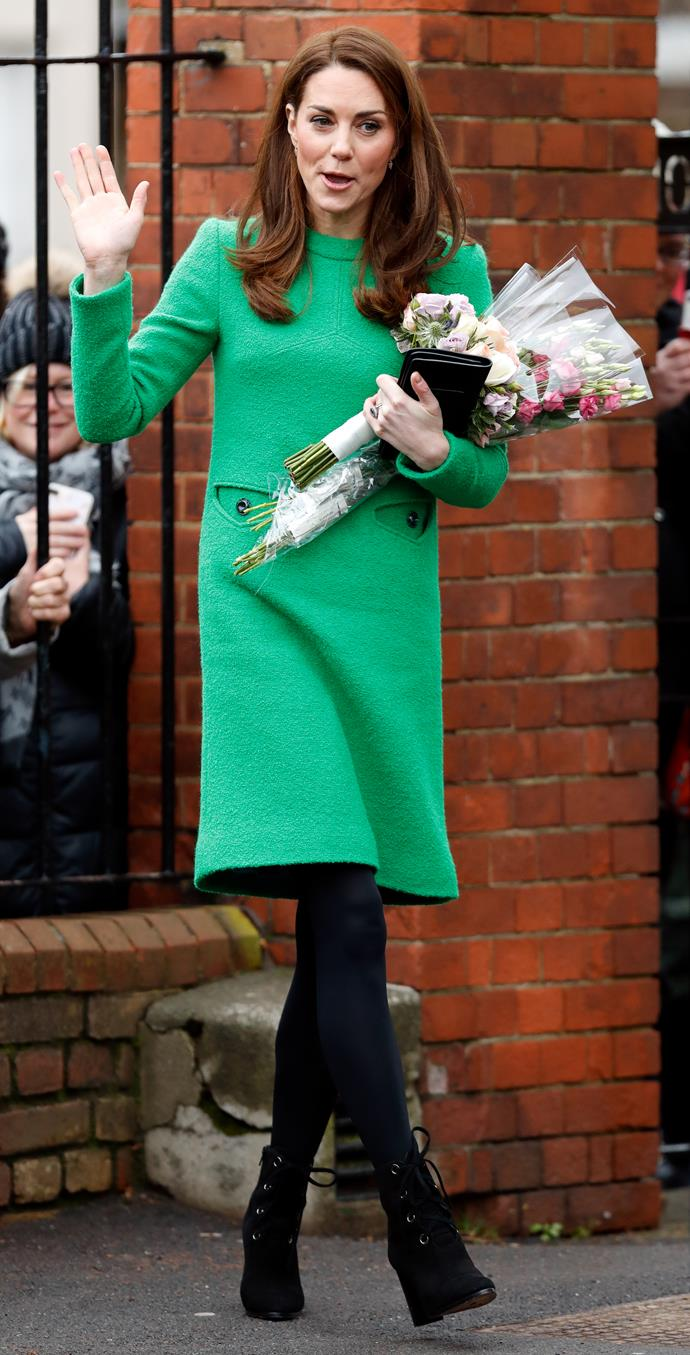 Queen of chic Kate nails the brief once again. *(Image: Getty)*