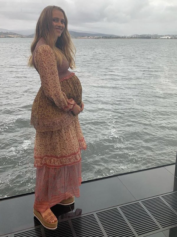 """Aussie actress Teresa Palmer is [expecting her third child](https://www.nowtolove.com.au/parenting/celebrity-families/teresa-palmer-pregnancy-cravings-53895 target=""""_blank""""), a daughter, with husband Mark Webber. *(Image: Instagram @teresapalmer)*"""