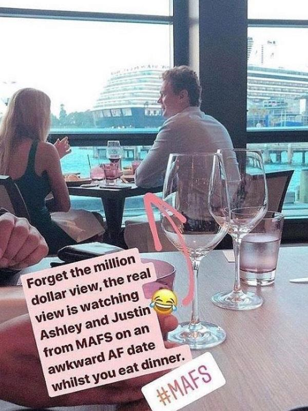 But was pictured on a romantic date with Justin Fischer just a few months later. *(Image: Instagram)*