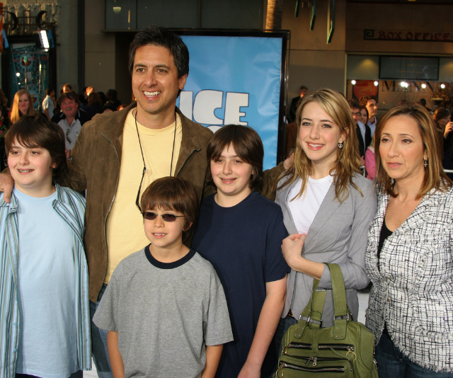 The Romano family came out to support dad, Ray at the launch of his animation hit, *Ice Age.* *Image: Getty.*