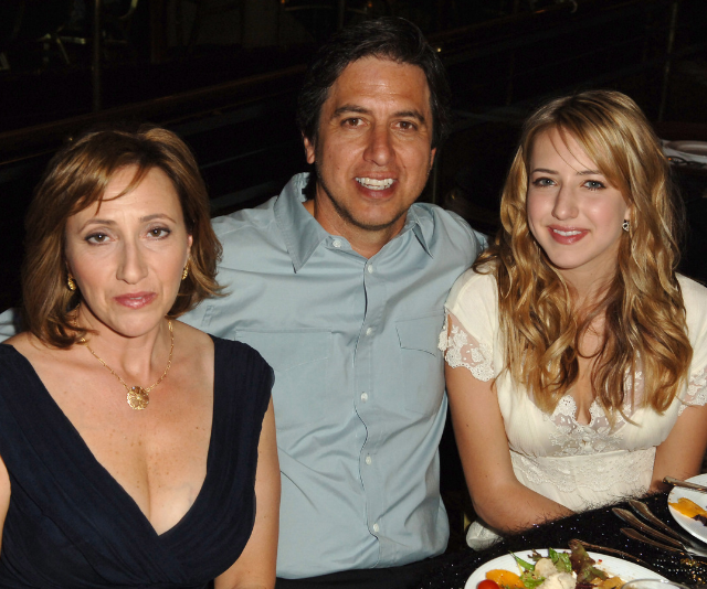 Ray Romano and wife Anna with daughter, Alexandra. *Image: Getty.*