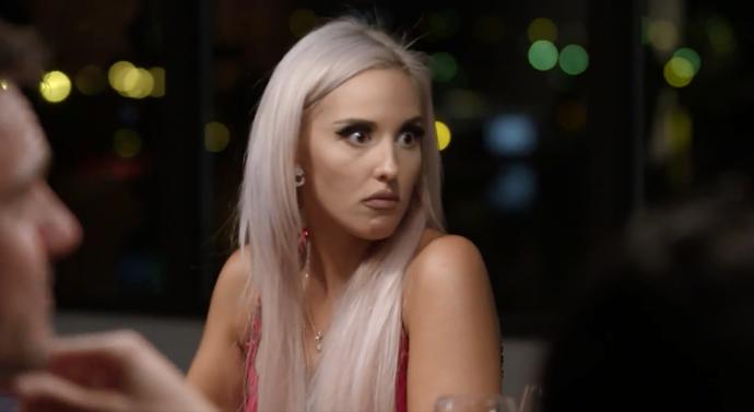 Elizabeth was shocked by Sam's arrival (Image: Nine Network).