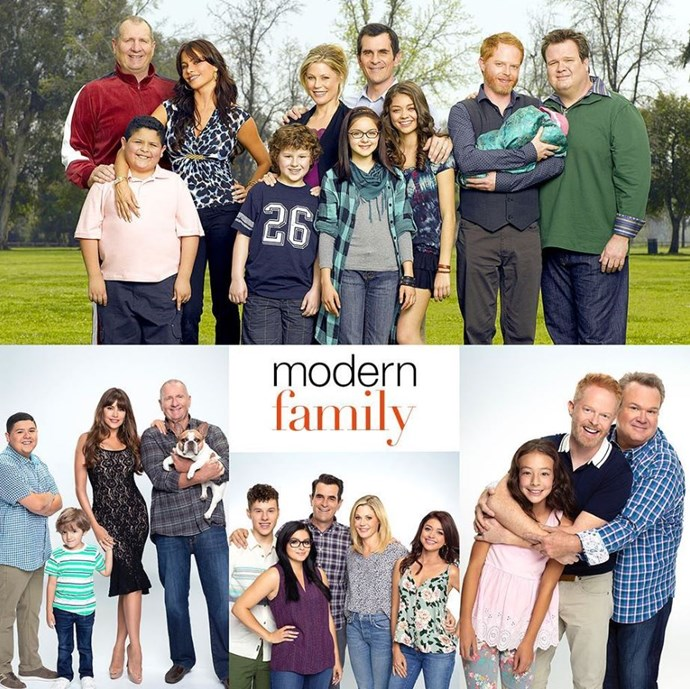 The cast even did their own 10 Year Challenge picture! *(Image: Instagram @abcmodernfam)*