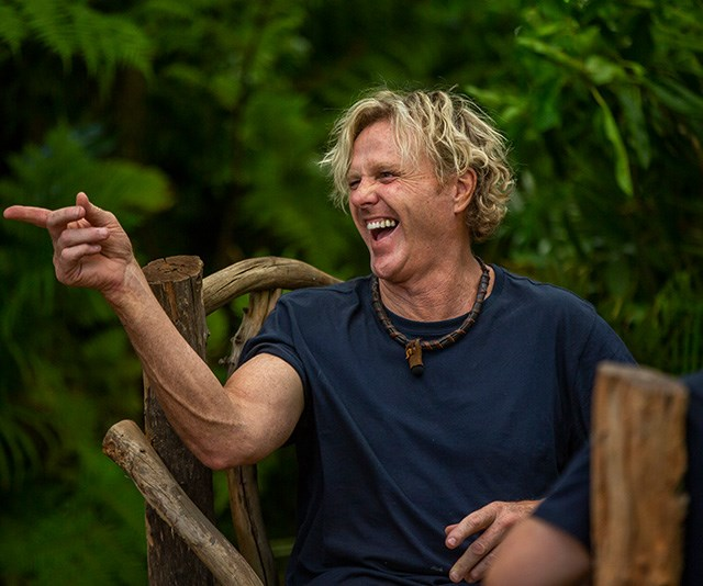 Dermott, aka Uncle Dermy, made a big impression on the *I'm A Celeb* campers. *(Image: Network Ten)*