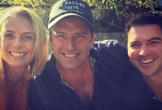 Sylvia, Karl and Pete in happier times. *(Image: Instagram)*
