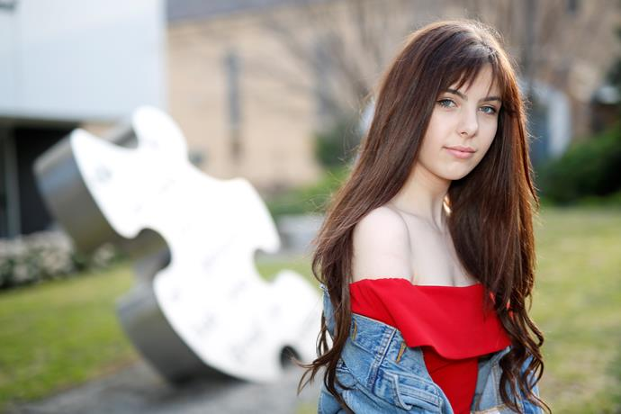 """**Leea Nanos** <br><br> Introducing 16-year-old singer-songwriter Leea (pictured above with Australia's 2017 Eurovision entrant Isaiah). Leena has been selected as a wild card entry after her song submission blew judges away. <br><br> """"Being involved in *Eurovision – Australia Decides* means everything to me and the reality hasn't quite sunk in yet!"""" she says. """"Being the youngest and most inexperienced in the competition I know I'll need to really bring my A-game to the stage. It's unreal that I've got this opportunity to perform on the same stage as all of these high-profile Australian artists - artists I admire and aspire to be like. I feel truly honoured."""""""