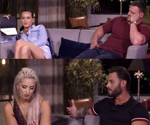 Both Ines and Sam opted to leave at the first commitment ceremony. *(Images: Channel Nine)*