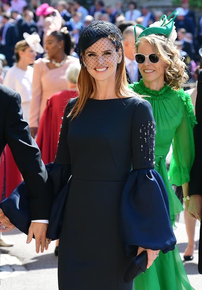 Sarah Rafferty at the royal wedding in May 2018. *(Image: Getty)*