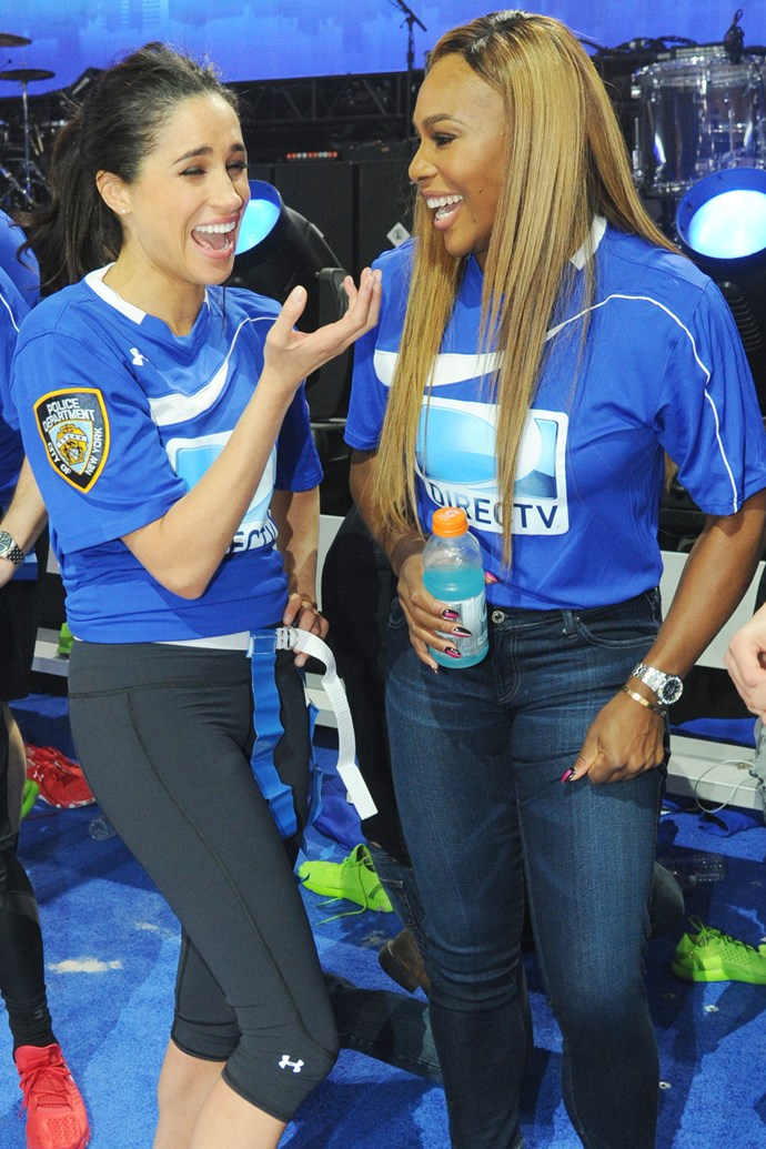 Meghan and Serena sharing a laugh. *(Image: Supplied)*