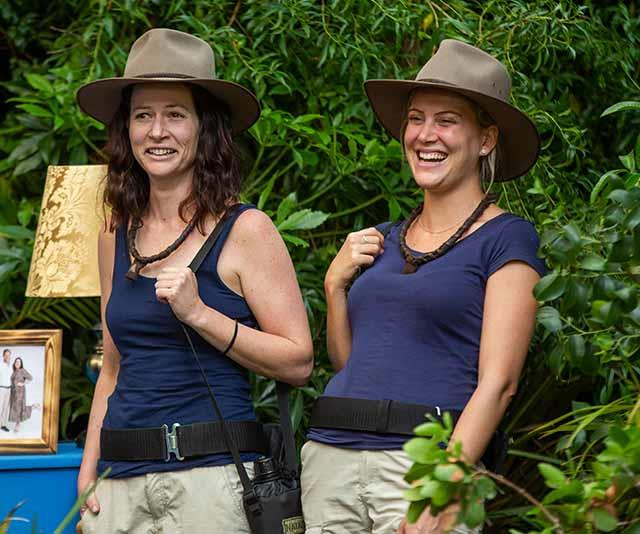 Justine and journalist Natasha Exelby struck up a close bond in the jungle. *(Image: Network Ten)*