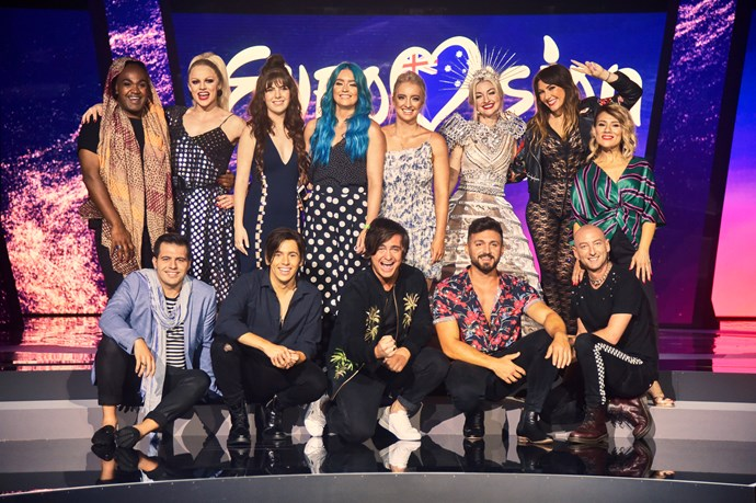 The 10 acts competing in *Eurovision - Australia Decides* (Image: SBS).