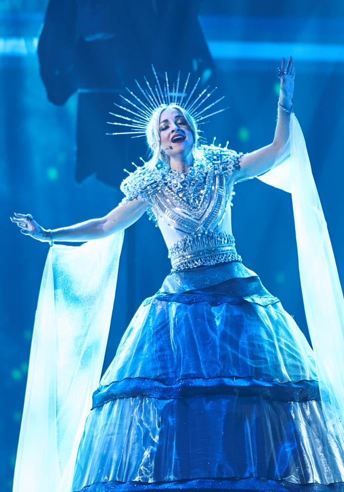 Kate Miller-Heidke's gravity-defying performance will wow viewers (Image: SBS).