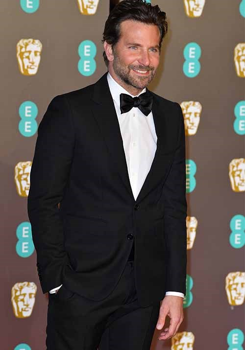 Here's a sight for sore eyes! The master behind *A Star is Born*, Bradley Cooper, looked properly dapper. *(Image: Getty)*