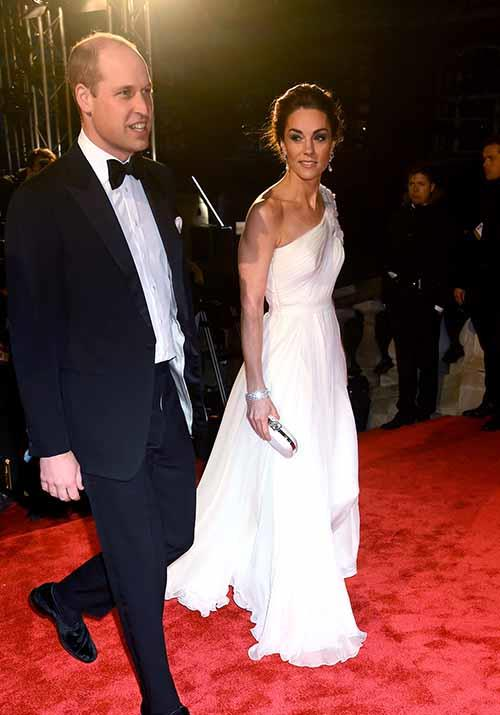 Leading the charge, Duchess Catherine and Prince William were a true sight to behold at the 2019 BAFTA Awards on Sunday evening. *(Image: Getty Images)*