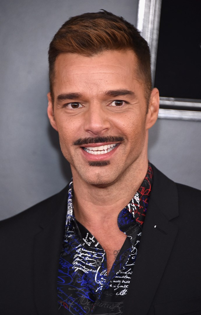Singer Ricky Martin is rocking a serious mo these days! *(Image: Getty)*