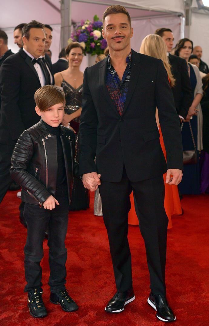 One more, just to revel in how cute this father and son duo are! *(Image: Getty)*