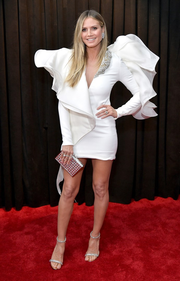 When it comes to red carpet fashion, Heidi Klum does *not* hold back! *(Image: Getty)*
