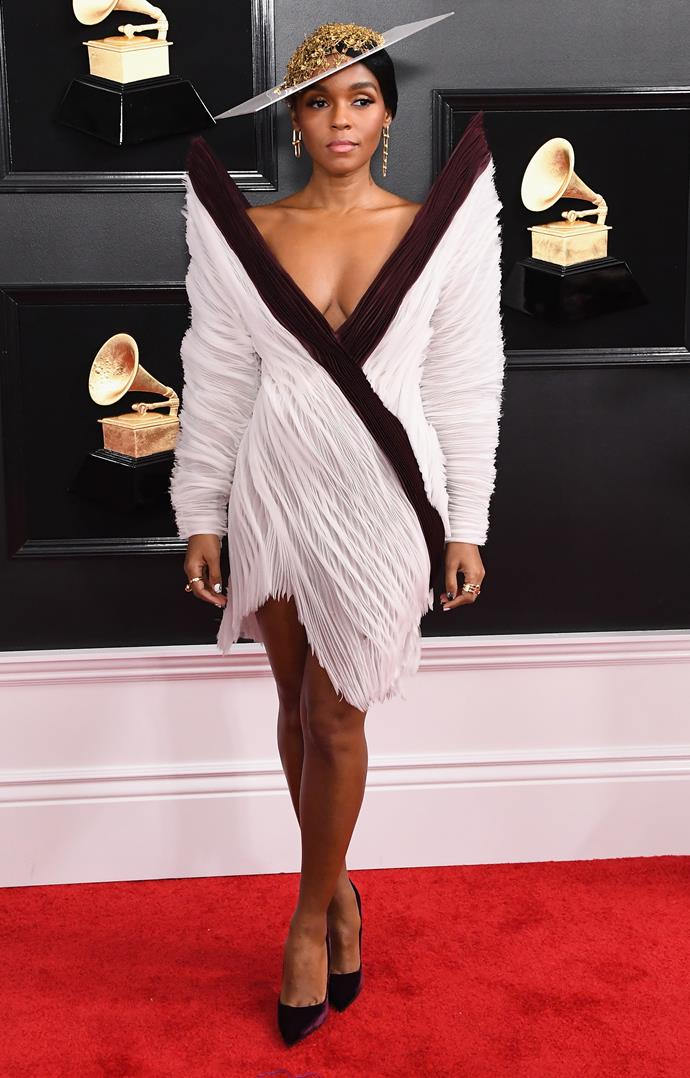 Janelle Monáe has one-upped shoulder pads - 2019 is all about the shoulder, er, *points*? *(Image: Getty)*