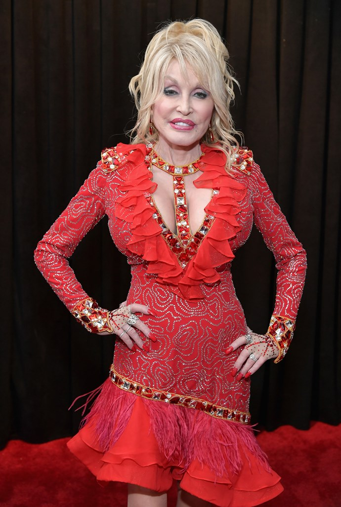 """I've been known for two things,"" Dolly joked at an event on the weekend. *(Image: Getty)*"