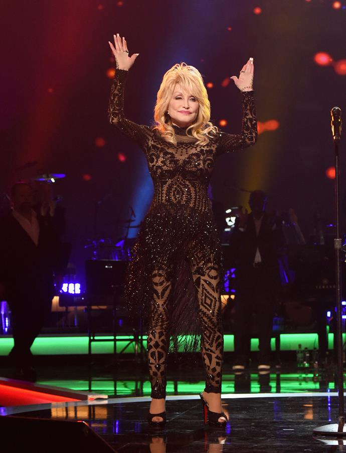 Dolly performing at the MusiCares Person Of The Year Awards. *(Image: Getty)*