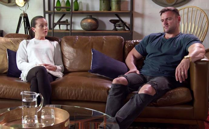 Ines and Bronson are subjected to a couple's counselling therapy session. *(Source: Channel 9)*