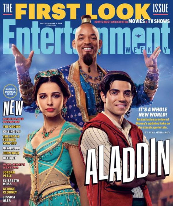 Images of Will Smith as a non-blue Genie sent fans up in arms last year. *(Image: EW)*