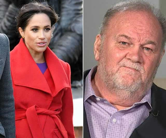 Meghan's in the middle of a heartbreaking rift with her father, Thomas Markle. *(Image: Getty Images)*