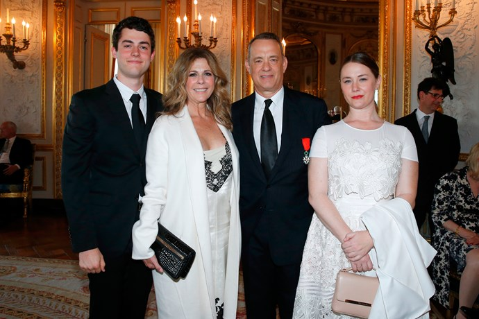 Truman Hanks, Rita Wilson, Tom Hanks and Elizabeth Hanks.