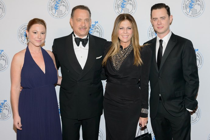 Samantha Hanks, Tom Hanks, Rita Wilson and Colin Hanks. *(Image: Getty)*