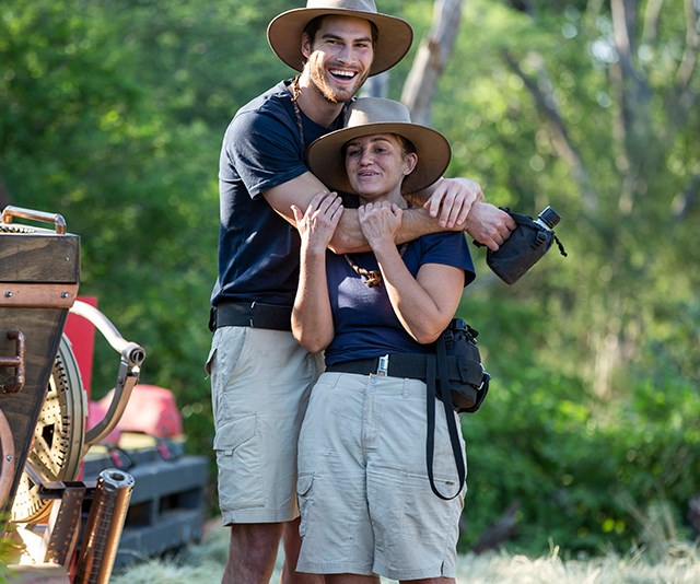 Despite their ups and downs, Justin made some lifelong friends in the jungle. *(Image: Network Ten)*