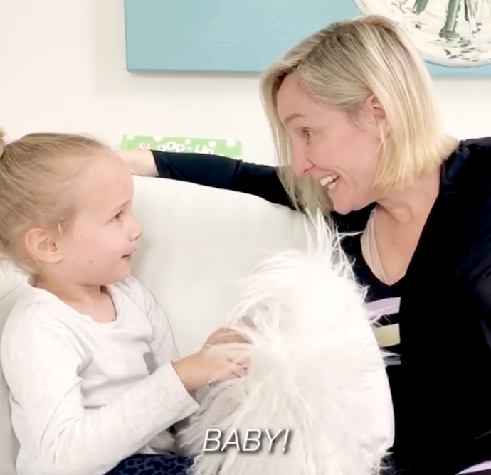 Fifi shared the news via an adorable Instagram video with her daughter Trixie. *(Image: Instagram / @Fifi_box)*