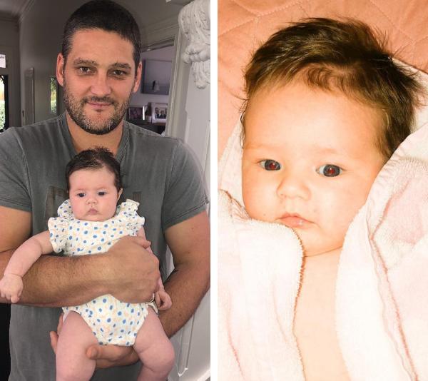 Brendan Fevola with his baby girl. *(Image: Instagram)*