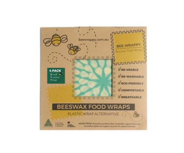 """**Bee Wrappy Beeswax Food Wraps:** These Australian made beeswax wraps made from 100 percent natural ingredients are an amazing alternative to cling wrap and single-use plastic. They come in a range of different sizes, colours and patterns, and can be used to cover leftovers, wrap up leftover fruit and veg or to wrap up sandwiches for school lunches. *Image: [BeeWrappy](https://www.beewrappy.com.au/?gclid=EAIaIQobChMI49Wr2uCj4AIVDT5gCh3DoABMEAAYASAAEgJA2PD_BwE 