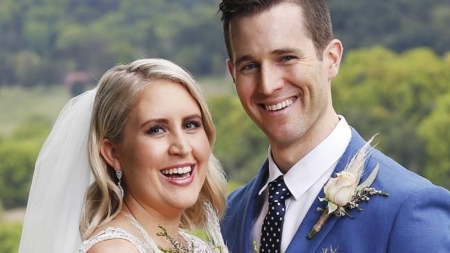 They were so cute on their wedding day! *(Image: Channel Nine)*