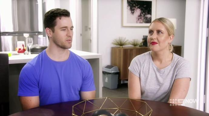 The pair had a tense discussion on Tuesday night's episode. *(Image: Channel Nine)*
