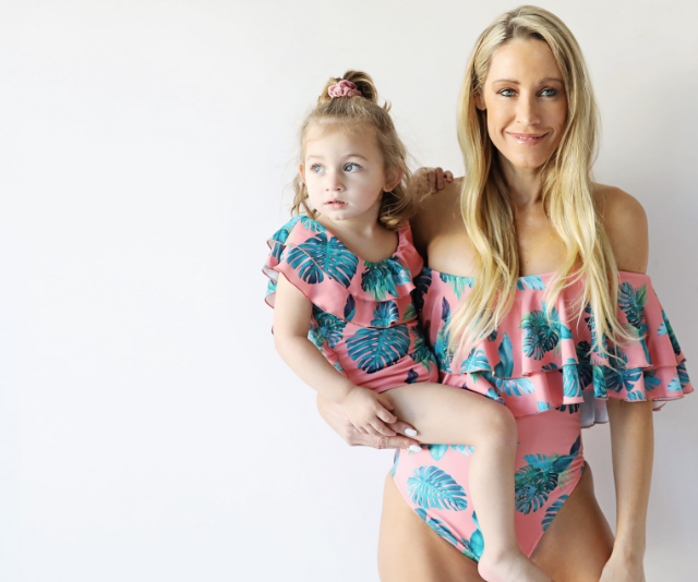 Is there is anything cuter than a little Infamous Swim mummy and me matchy-matchy? *Image: Supplied.*