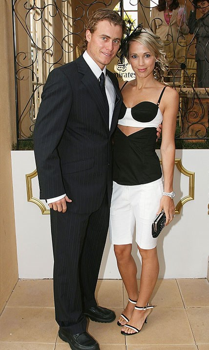 "The pair soon became a glamorous fixture on the social scene. Here they strike a pose at the 2006 [Melbourne Cup.](https://www.nowtolove.com.au/tags/melbourne-cup|target=""_blank"") *(Image: Getty)*"